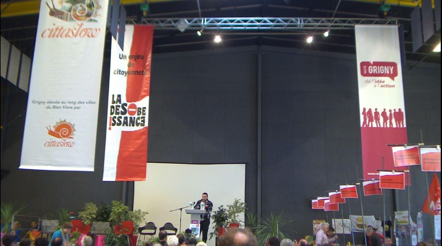 3 ème Forum de la désobéissance de Grigny (Rhône) -Discours d'ouverture René Balme, Paul Ariès