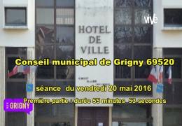 conseil municipal Grigny 69520 séance du 20 mai 2016 partie 1
