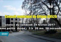 conseil municipal de Grigny (69520) séance du 24 février 2017 partie 2