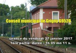 conseil municipal de Grigny (69520) séance du 27 janvier 2017 partie 2